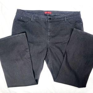 Jennifer Lopez bootcut black jeans sz 22W